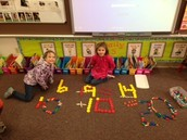 Using pattern blocks to write number sentences!