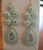 Capri Earrings - turquoise $20