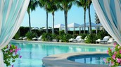 One of our hotels luxurious outdoor pools.