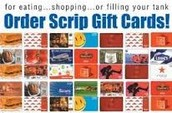 Scrip Cards make excellent Christmas Gifts!