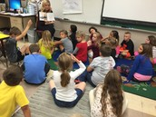 Interactive read aloud in Mrs. Howe's class.