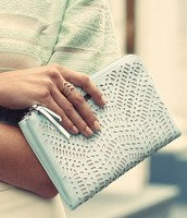 Soft Mint Double Clutch