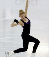 Figure skaters training