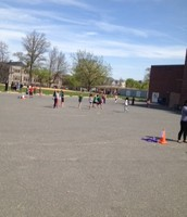 All the third graders were jumping together!