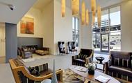 Beautiful Lobby with fireplace