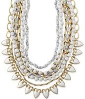 Stone Sutton Necklace - White