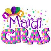 Mardi Gras Mini Carnival-Tuesday, February 9th