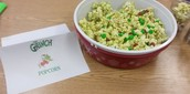 Grinch Popcorn for our Author's Celebration!