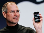 Steve with the iPhone