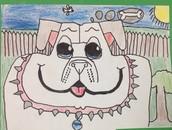 3rd grade creates our mascot