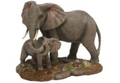 Naturecraft Adult and Baby Elephant Figurine