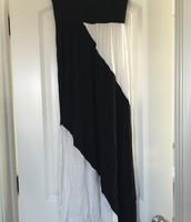 B&W Maxi Skirt