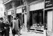 Shops and Businesses Owned by Jews Were Destroyed