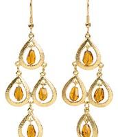 Citrine Chandelier Earrings $24.00