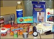Some Supplies for an Earthquake