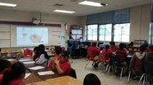Ms. Maria Scully teaching 4th Grade