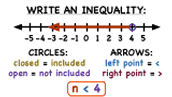 how can i write inequalities
