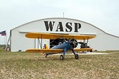 PT-17 in front of WASP building