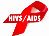 Red ribbon is for HIV/AIDS.