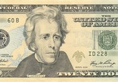Andrew Jackson on the $20 bill.