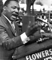 MLK Orates in Passion to Protestors