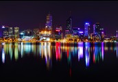 Perth City at Night over The Swan River