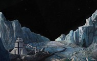 A painting painted of the surface of Europa