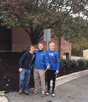 Scott O'Brien with Mr. Trott and Landon Trott (Volunteers)
