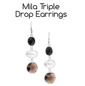 Mila Triple Drop Earrings