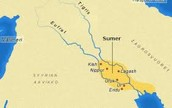 The Sumerian lived by the Persian Gulf in the middle of two river called Tigris and Euphrates.