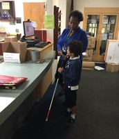 Working with Ms. Conyers in the main office