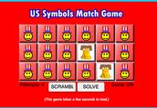 U.S.A. Symbol Matching Game: