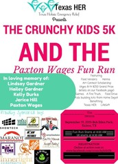 The Crunchy Kids 5K and Paxton Wages Fun Run is coming up....