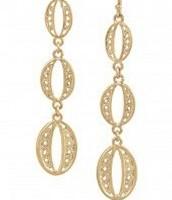 Kimberly Drop Earrings -Gold