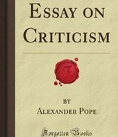 """An Essay on Criticism"""