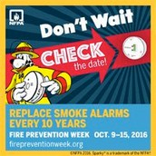 October 9-15 is Fire Prevention Week