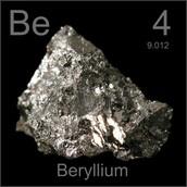 Be: Atomic number- 4 ; Atomic mass- 9.012