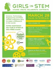 Girls in STEM on March 28th!