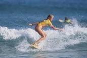 Bethany Starts Surfing