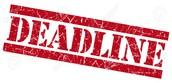 Solo & Ensemble Deadlines (7th & 8th grade band)
