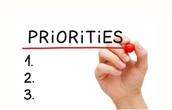 Organize Priorities