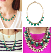 SOLD//Eye Candy Necklace - Green