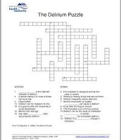 Delirium crossword