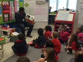Raven's Dad, Mr. Hester Came to Read to us for Valentine's Day!