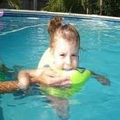 Caylee swimming