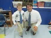 Brayden and Mr. Siler