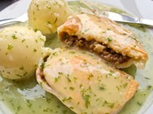 Pie and Mash with parsley liquor