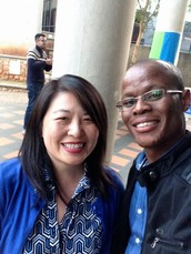 Jennifer Liu engaging in South Africa's teachers' narrative.