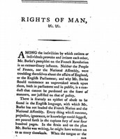 The First Chapter, stating the Rights of Man