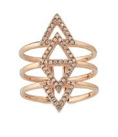 Pave Spear Ring